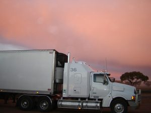 truck with fairings